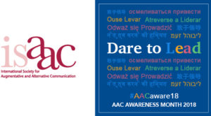 2018 ISAAC AAC Awareness Month Logo