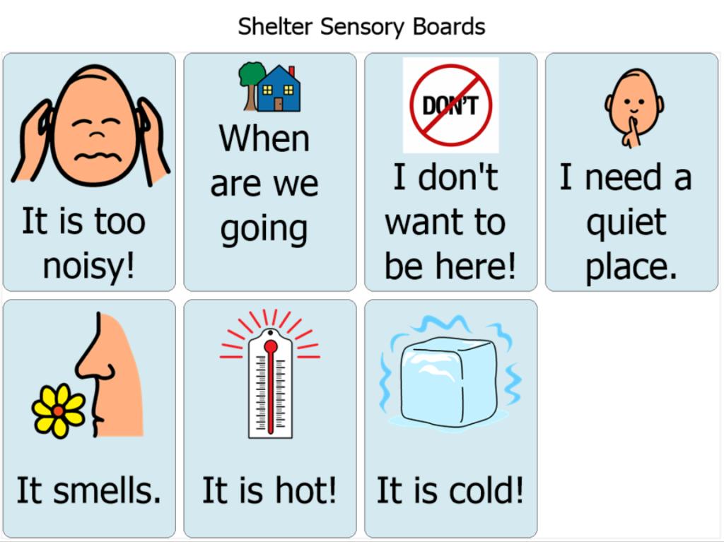 shelter sensory board
