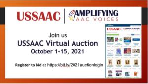 USSAAC flyer announcement of USSAAC Virtual Auction October 1 through 15